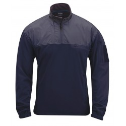 Propper - F54300W450L - Fleece Pullover, L Fits Chest Size 42 to 44, Navy Color