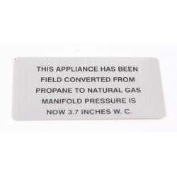 Vulcan-Hart - 00-421727-00003 - Plate, Propane To Natural Gas