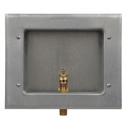 IPS Corporation - 88158 - 8.25 x 5.625 Galvanized Steel Ice Maker Outlet Box with 1/2 MIP Inlet Connection
