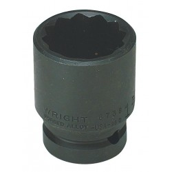Wright Tool - 67H-19MM - Impact Socket, 3/4 In Dr, 19mm, 12 pt