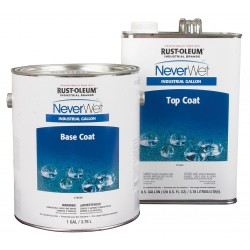 Rust-Oleum - 275612 - Clear Neverwet Top Coat, Flat, Light Haze Finish, 175 to 225 sq. ft./gal. Coverage, Size: 1 gal.