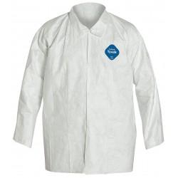 DuPont - TY303SWHLG0050VP - Disposable Shirt, L, Tyvek(R), White, PK50