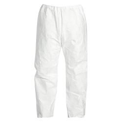 DuPont - TY350SWHLG0050VP - Disposable Pants, L, White, Tyvek 400 Material, PK 50