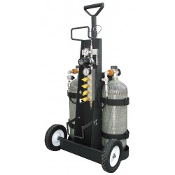 Air Systems - MP-2HCYL - Air Cylinder Cart, 2 Cylinders, 4500 psi