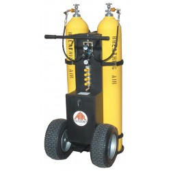 Air Systems - MP-2300ECY - Air Cylinder Cart, 2 Cylinders, 4500 psi