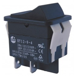 Power First - 29FG25 - Rocker Switch, Contact Form: DPST, Number of Connections: 4, Terminals: 0.250 Quick Connect Tab