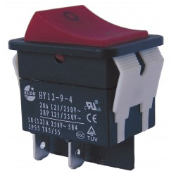 Power First - 29FG26 - Rocker Switch, Contact Form: DPST, Number of Connections: 4, Terminals: 0.250 Quick Connect Tab
