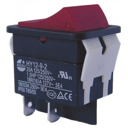 Power First - 29FG28 - Rocker Switch, Contact Form: DPST, Number of Connections: 4, Terminals: 0.250 Quick Connect Tab