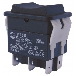 Power First - 29FG29 - Rocker Switch, Contact Form: DPDT, Number of Connections: 6, Terminals: 0.250 Quick Connect Tab