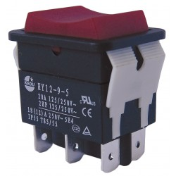 Power First - 29FG30 - Rocker Switch, Contact Form: DPDT, Number of Connections: 6, Terminals: 0.250 Quick Connect Tab