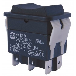 Power First - 29FG31 - Rocker Switch, Contact Form: DPDT, Number of Connections: 6, Terminals: 0.250 Quick Connect Tab