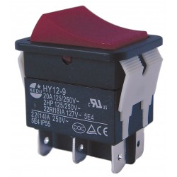 Power First - 29FG32 - Rocker Switch, Contact Form: DPDT, Number of Connections: 6, Terminals: 0.250 Quick Connect Tab
