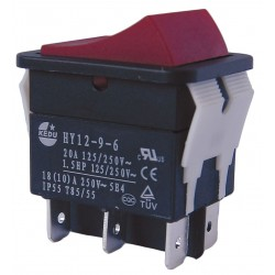 Power First - 29FG34 - Rocker Switch, Contact Form: DPDT, Number of Connections: 6, Terminals: 0.250 Quick Connect Tab