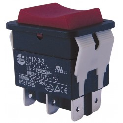 Power First - 29FG36 - Rocker Switch, Contact Form: DPDT, Number of Connections: 6, Terminals: 0.250 Quick Connect Tab