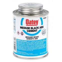 Oatey - 30889 - Solvent Cement, Black, 8 oz., for ABS Pipe and Fittings