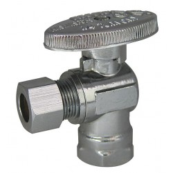Kissler - AB88-9200 - Chrome Water Supply Stop, FIP Inlet Type, 125 psi