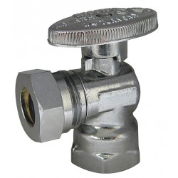 Kissler - AB88-9235 - Chrome Water Supply Stop, FIP Inlet Type, 125 psi