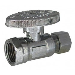 Kissler - AB88-9000 - Chrome Water Supply Stop, FIP Inlet Type, 125 psi