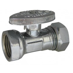 Kissler - AB88-9040 - Chrome Water Supply Stop, FIP Inlet Type, 125 psi