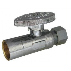 Kissler - AB88-9010 - Chrome Water Supply Stop, Sweat Inlet Type, 125 psi