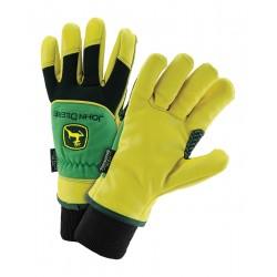 John Deere - JD95040/L - Cold Protection Gloves, 100% Polyester Lining, Knit Wrist Cuff, Yellow/Green/Black, L, PR 1