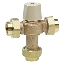 Powers - LFE480-51 - 3/8 Quick Connect Inlet Type Thermostatic Mixing Valve, Lead Free Copper Silicon Alloy, 4 gpm