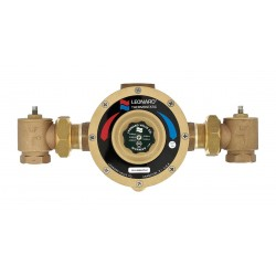 Leonard Valve - LV-984-LF-RF - 1-1/4 NPT Inlet Type Mixing Valve, Bronze, 97 gpm
