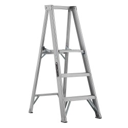 "Louisville Ladder - AP1003 - Aluminum Platform Stepladder, 4 ft. 8"" Ladder Height, 2 ft. 10"" Platform Height, 300 lb."