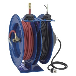 Coxreels / Coxwells - C-L350-5012-X - Combination Air/Water, Electric Reel, 20 Amps, 12 Wire Gauge (AWG), 300 psi, 3/8, Hose Length: 50 f