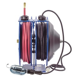 Coxreels / Coxwells - C-L350-5016-E - Combination Air/Water, Electric Reel, 13 Amps, 16 Wire Gauge (AWG), 300 psi, 3/8, Hose Length: 50 f