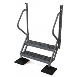 Tri Arc - URTL502 - Configurable Crossover Ladder, Aluminum, 20 Platform Height, Number of Steps 2