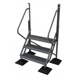 Tri Arc - URTL503 - Configurable Crossover Ladder, Aluminum, 30 Platform Height, Number of Steps 3