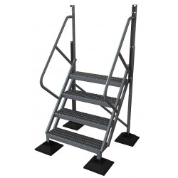 Tri Arc - URTL504 - Configurable Crossover Ladder, Aluminum, 40 Platform Height, Number of Steps 4