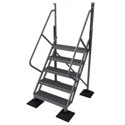 Tri Arc - URTL505 - Configurable Crossover Ladder, Aluminum, 50 Platform Height, Number of Steps 5