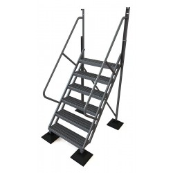 Tri Arc - URTL506 - Configurable Crossover Ladder, Aluminum, 60 Platform Height, Number of Steps 6