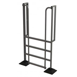 Tri Arc - URTL904 - Configurable Crossover Ladder, Aluminum, 40 Platform Height, Number of Steps 4