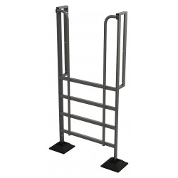 Tri Arc - URTL905 - Configurable Crossover Ladder, Aluminum, 50 Platform Height, Number of Steps 5