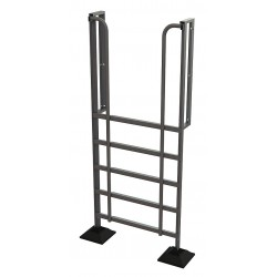 Tri Arc - URTL906 - Configurable Crossover Ladder, Aluminum, 60 Platform Height, Number of Steps 6
