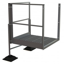 Tri Arc - URTTP20 - Crossover Turn Platform, Aluminum, 36 Bottom Width, For Use With Ladders