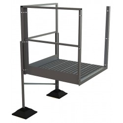Tri Arc - URTTP30 - Crossover Turn Platform, Aluminum, 36 Bottom Width, For Use With Ladders