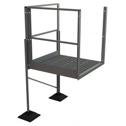 Tri Arc - URTTP40 - Crossover Turn Platform, Aluminum, 36 Bottom Width, For Use With Ladders