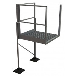 Tri Arc - URTTP50 - Crossover Turn Platform, Aluminum, 36 Bottom Width, For Use With Ladders