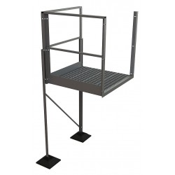 Tri Arc - URTTP60 - Crossover Turn Platform, Aluminum, 36 Bottom Width, For Use With Ladders