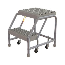 Tri Arc - WLAR002165 - Aluminum Rolling Step, 20 Overall Height, 350 lb. Load Capacity, Number of Steps: 2