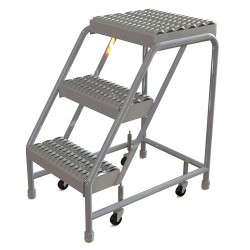 Tri Arc - WLAR003165 - Aluminum Rolling Step, 30 Overall Height, 350 lb. Load Capacity, Number of Steps: 3