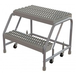 Tri Arc - WLAR002245 - Aluminum Rolling Platform, 20 Overall Height, 350 lb. Load Capacity, Number of Steps: 2