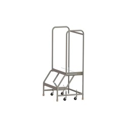 Tri Arc - WLAR102244 - 2-Step Rolling Ladder, Ribbed Step Tread, 52 Overall Height, 350 lb. Load Capacity