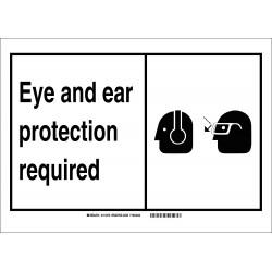 Brady - 119488 - Personal Protection, No Header, Vinyl, 10 x 7, Adhesive Surface, Not Retroreflective