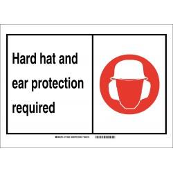 Brady - 119514 - Personal Protection, No Header, Vinyl, 7 x 10, Adhesive Surface, Not Retroreflective