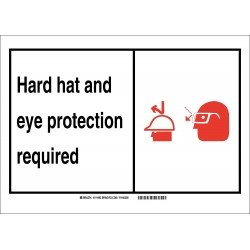 Brady - 119494 - Personal Protection, No Header, Plastic, 7 x 10, With Mounting Holes, Not Retroreflective